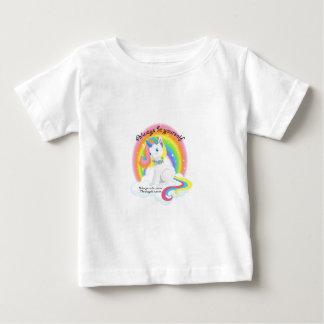 Camiseta Para Bebê Seja você mesmo. Design mágico do unicórnio
