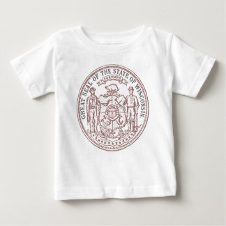 Camiseta Para Bebê Selo desvanecido de Wisconsin