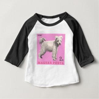 Camiseta Para Bebê Selo postal 1967 do cão de Hungria Pumi