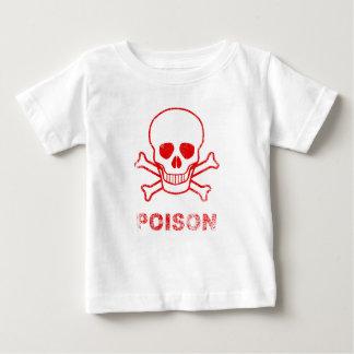Camiseta Para Bebê Selo vermelho da tinta do veneno