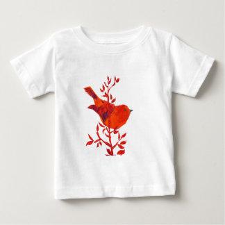 Camiseta Para Bebê Selva floral do safari do elefante