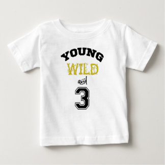 Camiseta Para Bebê Selvagem e três novos