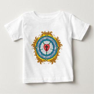 """Camiseta Para Bebê """"Senhor cristão CRISTÃO de Jesus do rosa de Luther"""