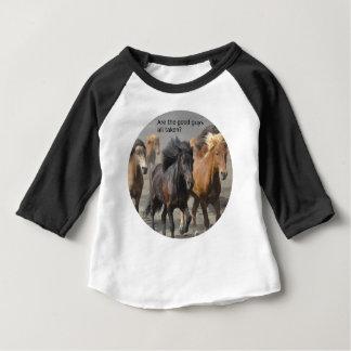 Camiseta Para Bebê Senhora Cavalo Bisbolhetice: São os bons rapazes