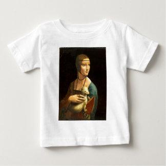 Camiseta Para Bebê Senhora da pintura de Da Vinci original com um