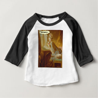 Camiseta Para Bebê Senhora elegante Pensamento Sobre Porco-