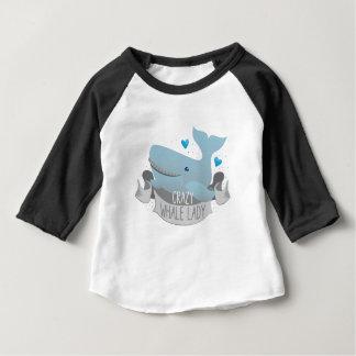 Camiseta Para Bebê senhora louca da baleia