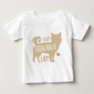 Camiseta Para Bebê senhora louca da chihuahua