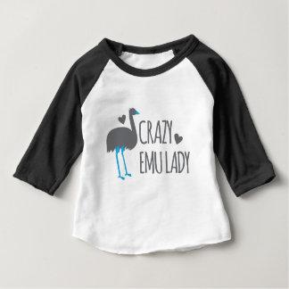 Camiseta Para Bebê senhora louca do emu