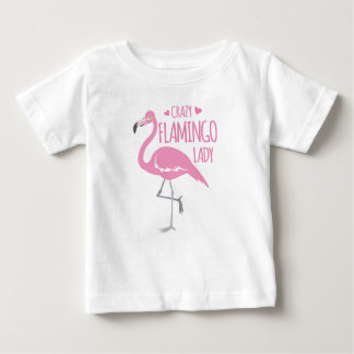 Camiseta Para Bebê Senhora louca do flamingo
