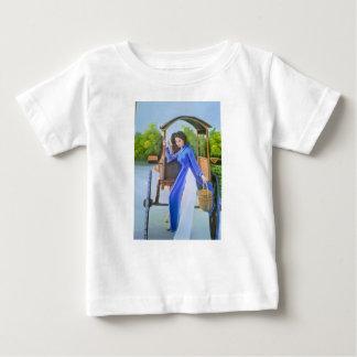 Camiseta Para Bebê Senhora no azul