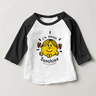 Camiseta Para Bebê Senhorita pequena Luz do sol | eu sou sempre luz