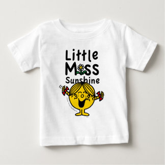 Camiseta Para Bebê Senhorita pequena pequena Luz do sol Riso da