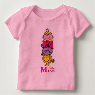 Camiseta Para Bebê Senhorita pequena pequena Standing Alto da