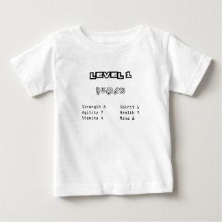 Camiseta Para Bebê Ser humano do nível 1