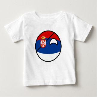 Camiseta Para Bebê Serbia Geeky de tensão engraçado Countryball