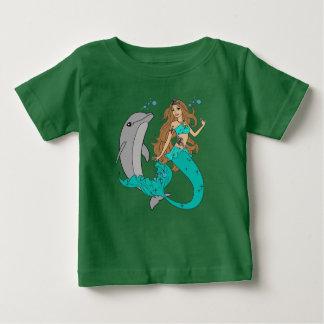 Camiseta Para Bebê Sereia com golfinho