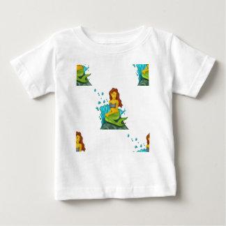 Camiseta Para Bebê sereia do emoji