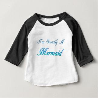 Camiseta Para Bebê Sereia secreta