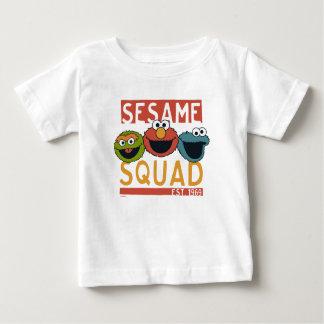 Camiseta Para Bebê Sesame Street - pelotão do sésamo