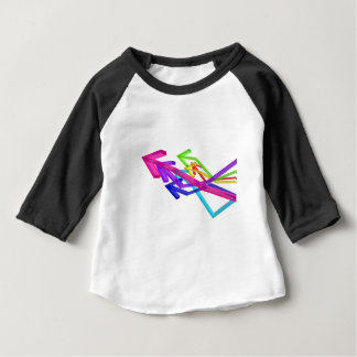 Camiseta Para Bebê Setas coloridas