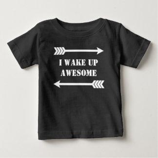 Camiseta Para Bebê Setas - eu acordo impressionante