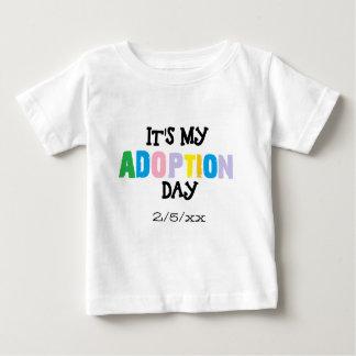 Camiseta Para Bebê Seu meu dia da adopção por ozias