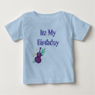 Camiseta Para Bebê Seu meu t-shirt do aniversário com parte dianteira