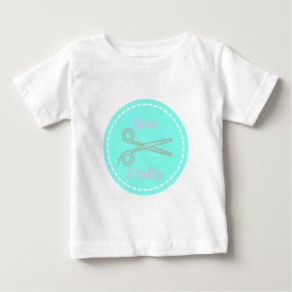 Camiseta Para Bebê Sew o Aqua esperto das cinzas do rosa Pastel
