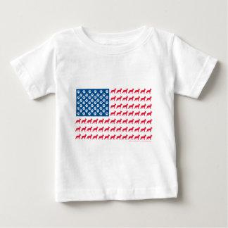 Camiseta Para Bebê Shepard-Bandeira patriótica