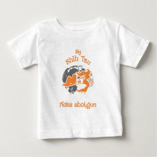 Camiseta Para Bebê Shih Tzu monta o traje do Dia das Bruxas da