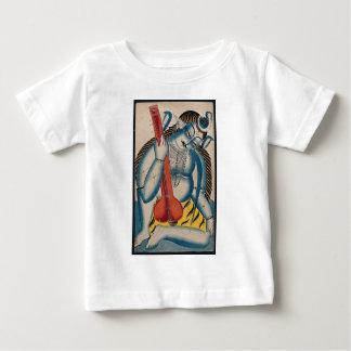 Camiseta Para Bebê Shiva intoxicado que guardara o cordeiro