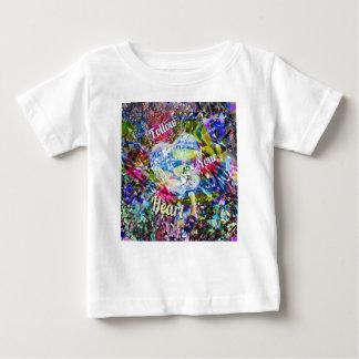 Camiseta Para Bebê Siga sempre seu coração e você não lamentará i