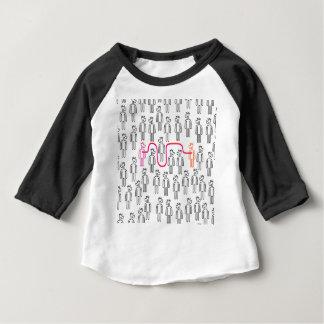 Camiseta Para Bebê Siga seu unicórnio do coração