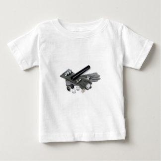 Camiseta Para Bebê Silenciador do supressor da arma de fogo com luvas