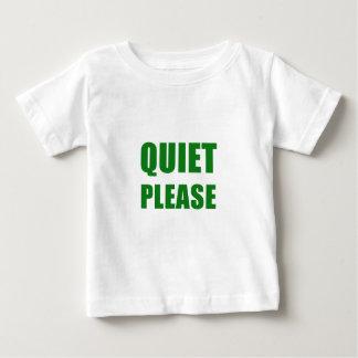 Camiseta Para Bebê Silêncio por favor