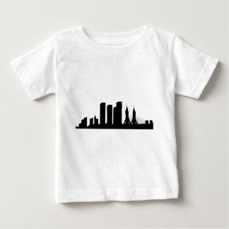 Camiseta Para Bebê Silhueta da arquitectura da cidade