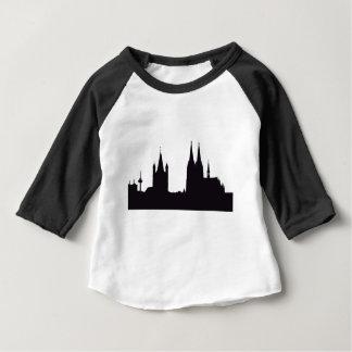 Camiseta Para Bebê Silhueta da catedral