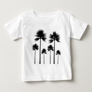 Camiseta Para Bebê Silhueta da palmeira