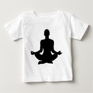 Camiseta Para Bebê Silhueta da pose da ioga