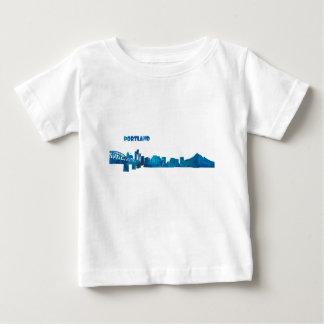 Camiseta Para Bebê Silhueta da skyline de Portland