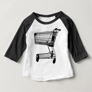 Camiseta Para Bebê Silhueta do carrinho de compras