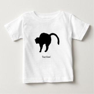 Camiseta Para Bebê silhueta do gato