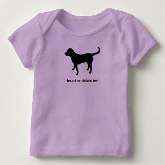 Camiseta Para Bebê Silhueta do laboratório do preto do lapshirt do