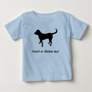Camiseta Para Bebê Silhueta do laboratório do preto do t-shirt do