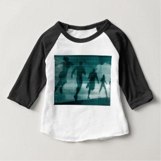Camiseta Para Bebê Silhueta do software do perseguidor do App da