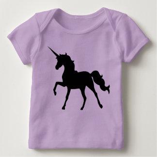 Camiseta Para Bebê Silhueta do unicórnio