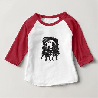 Camiseta Para Bebê Silhueta icónica das crianças do vagão coberto