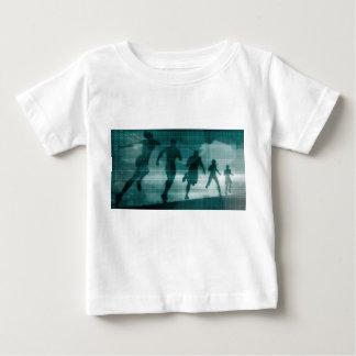 Camiseta Para Bebê Silhueta Illustrati do software do perseguidor do