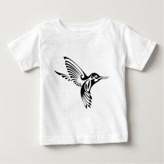 Camiseta Para Bebê Silhueta tribal do colibri
